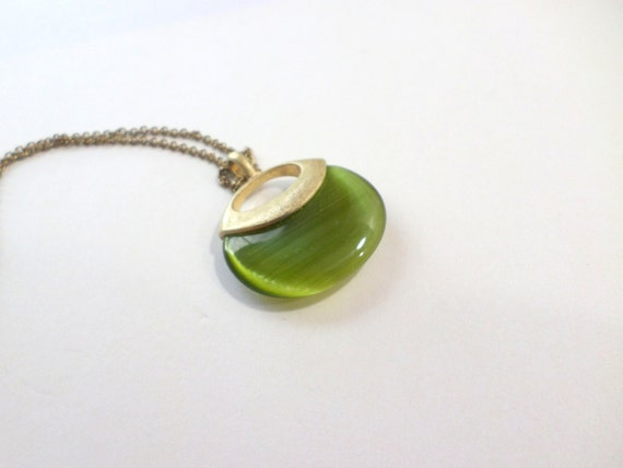 Avocado necklace monet cats eye moonstone jewelry by for Cat s eye moonstone jewelry