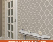 Moroccan Warm Grey Peel & Stick Fabric Wallpaper Repositionable
