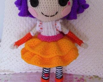 Crochet PATTERN Lalaloopsy Peanut amigurumi doll
