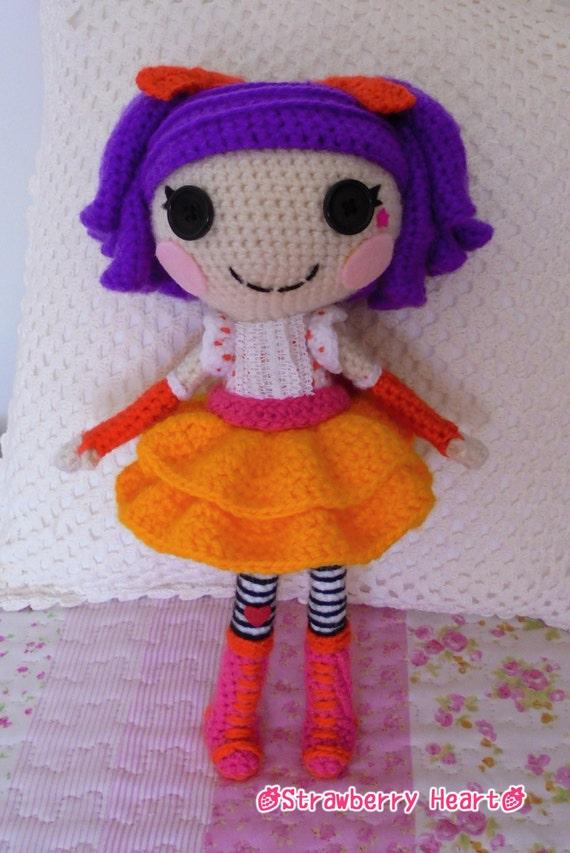 Sock Monkey Amigurumi Pattern : Crochet PATTERN Lalaloopsy Peanut amigurumi doll