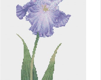 Iris Cross Stitch Chart PDF