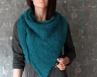 TRIANGLE SCARF, Alpaka / Wool