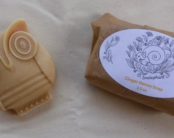 Ginger Honey Soap Owl