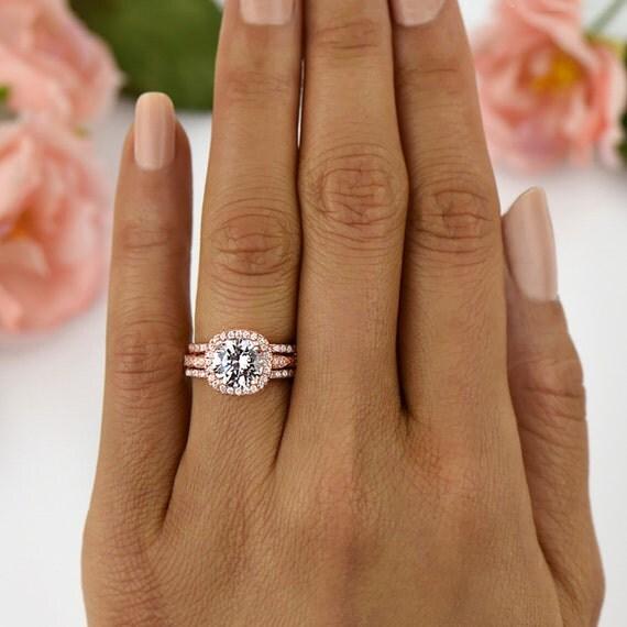 Diamond Halo Engagement Rings Double or Single  Blue Nile