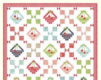 VINTAGE BASKETS Cotton Way Quilt Pattern by Bonnie Olaveson of Bonnie & Camille