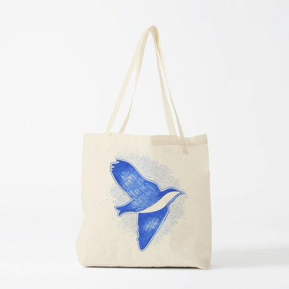 Tote Bag, Swallow, groceries bag, canvas bag, cotton tote, reusable tote, fabric bag, novelty gift, gift for coworker, laptop bag, gift mum.