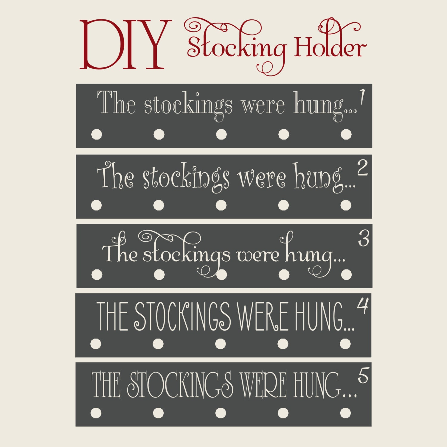 The stockings were hung vinyl only christmas decor stocking