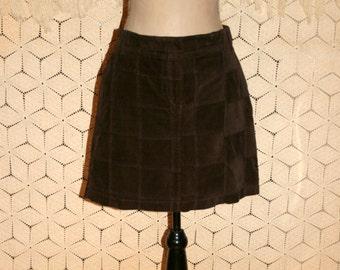 Womens Skirts Medium Short Brown Corduroy Skirt Casual A Line Mini Skirt Short Skirt Brown Skirt A Line Skirt Ann Taylor Size 8 Skirt