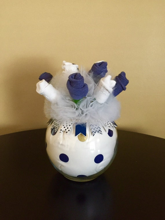 Items similar to Baby Sock Bouquet – Nautical Baby