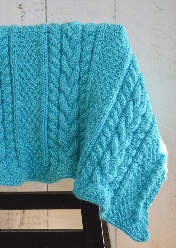 Knitting Pattern For Security Blanket : KNITTING PATTERN PDF Baby Blanket - Knit pattern baby ...
