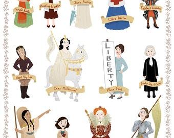 Women in History II, 8x10