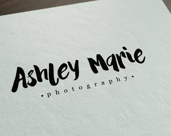 Pre-made business logo - ASHLEY MARIE - photography logo - calligraphy - professional logo