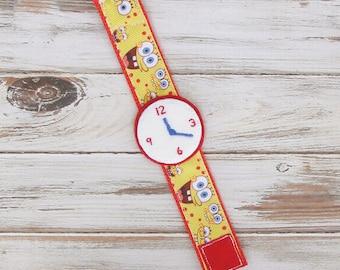 Toy Watch -Toddler, Play Watch, Dress Up, Kids, Handmade, Pretend Wrist Watch