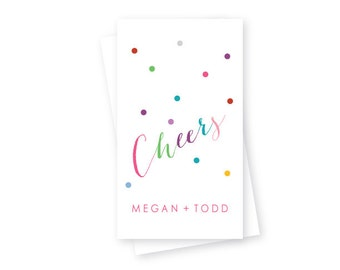 Christmas / Holiday Gift Tags, Package of 10, Cheers