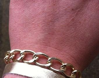 Leather Chain Clasp Bracelet