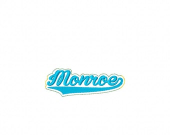 Monroe - Team -  Headband Slip On  - DIGITAL Embroidery DESIGN