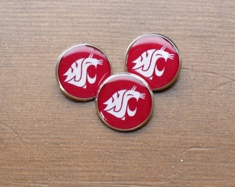 WSU Cougars - Shank Button - Sewing - 18mm