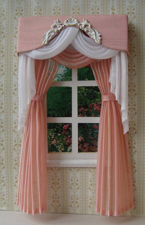 Miniature 1 12 Dollhouse Curtains