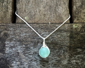 Herringbone Wire Wrapped Necklace - Options Available