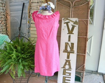 Perfect Pink 1960's Party Dress (Hand Made!)