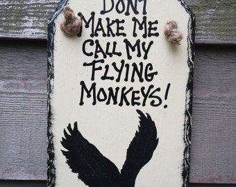 The Wizard of Oz Flying Monkey Silhouette white Wall-hanging Slate