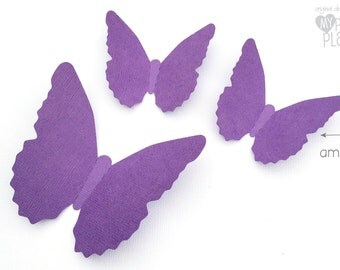 Purple Butterfly shapes, cut-outs. Easter, weddings, wall decoration, baby shower. Party decorations. Photo prop background. Party decor.