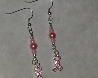 Breast Cancer Earrings Cancer Awareness Earrings