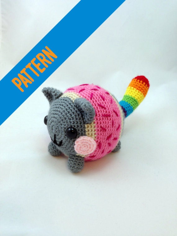 Nyan Cat Amigurumi Free Pattern : Crochet Pattern Chubby Nyan Cat
