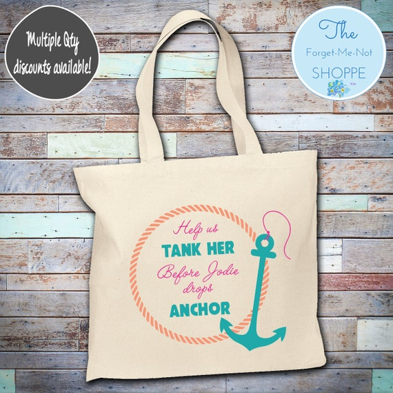 Bachelorette Party Wedding Tote Bag ~ Bride to Be, Nautical, bachelorette , Fun,  party, Wedding Favor, Gift Tote, Bridal, ship faced