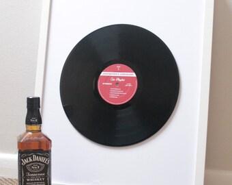 "Create Your Own Custom Framed 12"" Vinyl Record Label / Sticker - includes white frame"