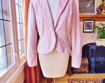 Vintage Light Pink Fuzzy Jacket
