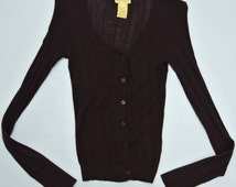 Vanessa Bruno Cardigan Women XS to Small Size Athe Vanessa Bruno Wool Cardigan Vanessa Bruno Sweater Made in France Pure Wool Sweater Size 1