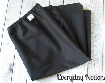 Black Diaper Pail Liner -  13 gallon - Reusable Garbage Pail Liner - Laundry Bag