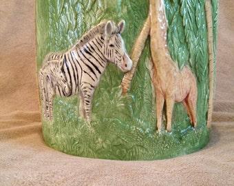 Duncan Ceramic Jungle Safari Animals Planter