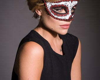 sugar skull mask masquerade mask day of the dead mask halloween mask