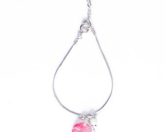 Coral lace bracelet - 925 silver