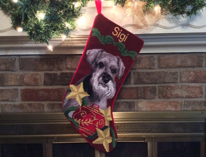 schnauzer dog stocking