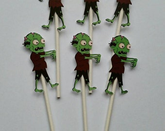 Zombie Cupcake Toppers (12 count)