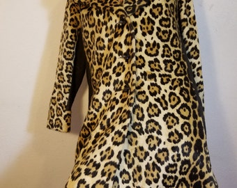 FREE  SHIPPING  1950 Leopard Coat