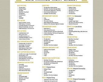 2016 Printable Oscar Ballot Party Pack Stars by getpartychic