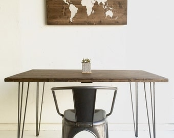 Handcrafted world map on wood, hand painted, decorative wall art, wood sign