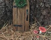 Fairy House Doors, Wooden Rustic Fairy Cottage Doors