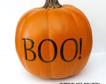 pumpkin decal pumpkin decor halloween pumpkin decorations boo vinyl decal harvest decoration