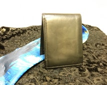 1960's Amity Black Leather Hipster Wallet, Vintage Black Leather Wallet for Men, Vintage Rockabilly Greaser Wallet, 1950's Leather Billfold