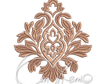 MACHINE EMBROIDERY DESIGN - Damask element, Victorian design, Victorian element, damask ornament, Elizabeth design