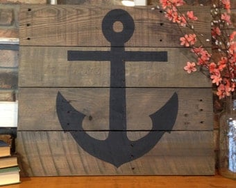 Anchor Pallet Sign