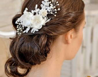 Bridal  Headpiece,  Wedding Hair Piece ,   Wedding Headpiece , Bridal Hair Comb, Wedding Hair Comb, Wedding headpiece - AMÉLIE