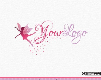 Premade Fairy Logo - Girly Logo, Logo Design, Cute Logo, Pink Logo, Watermark, Pink and Purple Logo, Faerie, Fairy Graphic, Fairy Dust