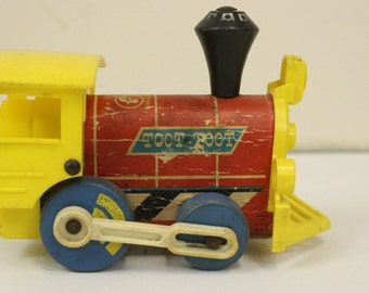 Fisher-Price Toot-Toot, Wooden Pull Along Train, Push and Pull Toy