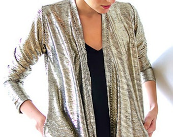 Golden jacket/ Metallic gold jacket/ Party Jacket